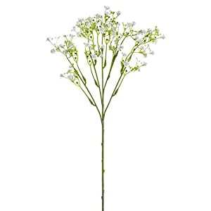 """White Artificial Baby's Breath Flowers - 19"""" Tall - Set of 4 41"""