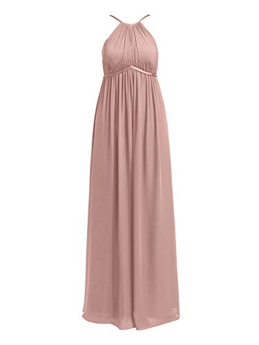 Alicepub Chiffon Plus Size Bridesmaid Dresses Maternity Dress Long for Wedding Guest Baby Showers Photoshoot, Silver Pink, US22