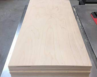 1/4'' (6MM) 12'' x 48'' Baltic Birch Plywood b/bb Grade one Clear face. (Box of 6) by The kitchen zone