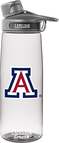 NCAA Arizona Wildcats Chute Collegiate, 0.75 L, Clear