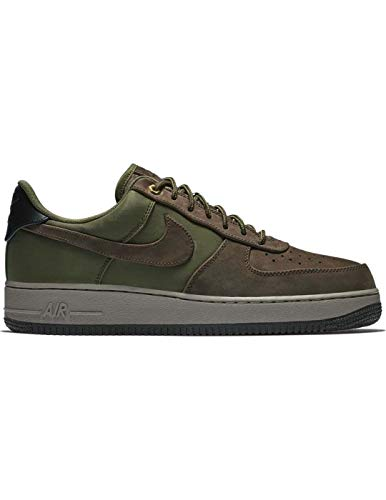 Nike Men's Air Force 1 Low Baroque Brown/Army Olive/Medium Olive Leather Casual Shoes 10 M US - Mens Force Brown Leather