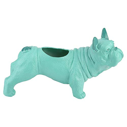 - Cute Bulldog Shape Flower Pot Animal Bonsai Plant Pot Plastic Succulent Pot for Home Office Desktop Decoration (2#)