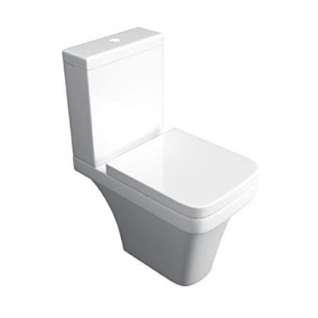 Cassellie Daisy Lou Ceramic Comfort Height Close Coupled Toilet Pan and Cistern with Soft-Close Seat