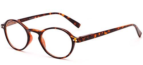 Readers.com The Studio +3.50 Tortoise Round Frame with Keyhole Bridge Reading - 2012 Glasses Mens Best Frames
