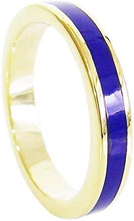 ブラス製ゴールドシンプルリング(10)ラピスラズリ 17号 真鍮製 金色 指輪 リング