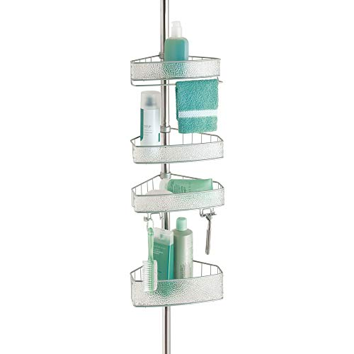 Discover Bargain iDesign Rain Metal Shower Adjustable and Expandable Tension Shower Bath Caddy, for ...
