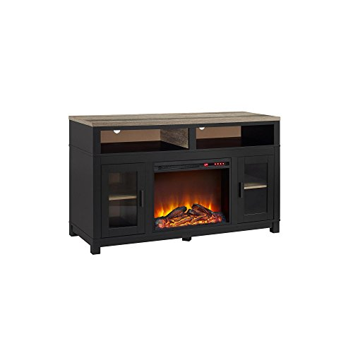 "Altra Furniture 1774196COM Carver Electric Fireplace TV Stand for TVs up to 60"", Black"