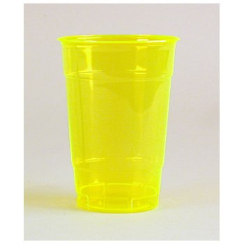 Comet Colors Plastic Party Drinking Cup, 16-Ounce, Sunshine Yellow (500-Count)