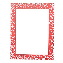 Gartner Studios(R) Holiday Stationery Sheets, Red Confetti Dot, 8 1/2in. x 11in, Pack of 80 ()