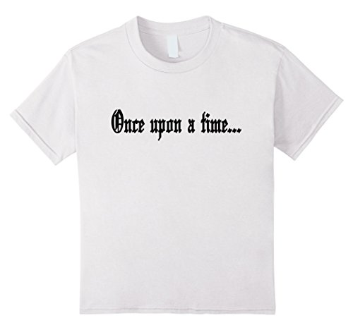 Time Graphic Tee (Kids Once Upon A Time Vintage Tshirt Retro Life Tee 12 White)