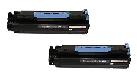 2/Pack 106 Black Toner Cartridge for Canon Compatible with: imageCLASS MF6500 MF6530 MF6531 MF6540 MF6550 MF6560 MF6580 MF6590 MF6595 MF6530 LaserBase MF6540PL LaserBase MF6550PL MF6560PL MF6580 (Canon Imageclass Mf6540 Toner)