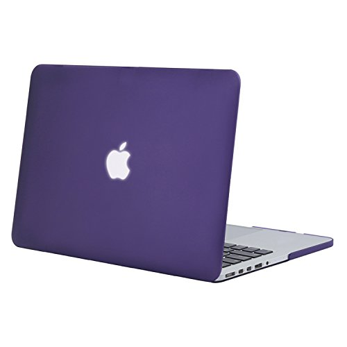 Mosiso Plastic Hard Case Cover Only for MacBook Pro 13 Inch with Retina Display No CD-Rom (A1502/A1425, Version 2015/2014/2013/end 2012), Ultra Violet