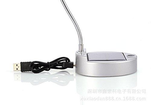 DMMSS Smart Charging Solar Lamp Lighting, Silver
