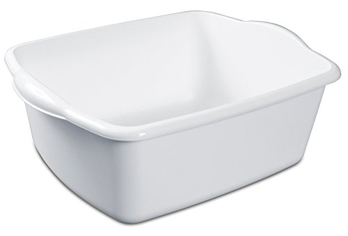 Sterilite White 12Qt Dishpan (The Best Way To Hand Wash Clothes)