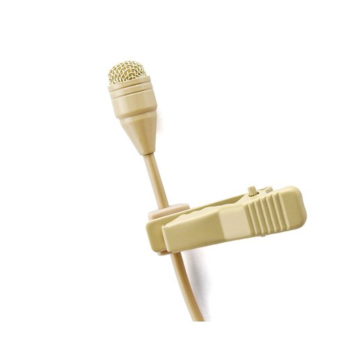 - Pro Beige Lavalier Lapel Condenser Microphone JK MIC-J 050 Compatible with Sennheiser Wireless Transmitter