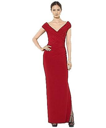 Lauren Ralph Lauren Women\'s Evening Gown Dress Scarlet Red IMPORTED ...