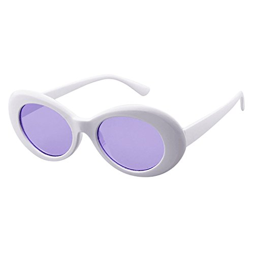 (Fashion Sunglaess, Retro Vintage Clout Goggles Unisex Sunglasses Rapper Oval Shades Grunge Glasses)
