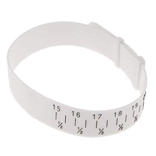 Tcplyn Wrist Measurement Bracelet Gauge Measuring Tool Adjustable Band Plastic Durability Durability