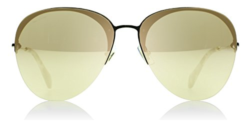 Miu Miu Women's Mirrored Aviator Sunglasses, Pale Gold/Light Gold, One - Sunglasses Aviator Miu Miu