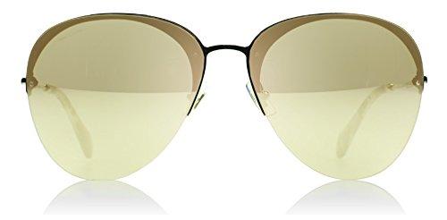 Miu Miu Women's Mirrored Aviator Sunglasses, Pale Gold/Light Gold, One - Sunglasses Miu Aviator Miu