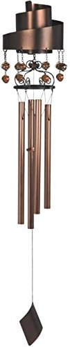 StealStreet SS-G-99375 48-Inch Left Twirled Ribbon Wind Chime with Hanging Copper Pearls GSC