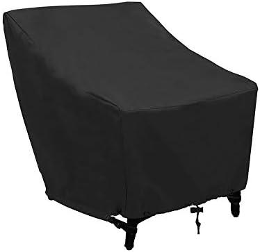 屋外テーブルチェアカバ 屋外210Dオックスフォード布椅子カバー防水UVプロテクション防塵パティオ椅子カバー70x79x102cmブラック 保護カバー ガーデン屋外用 (Color : Black, Size : 70x79x102cm)
