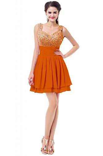 orange junior prom dresses - 5