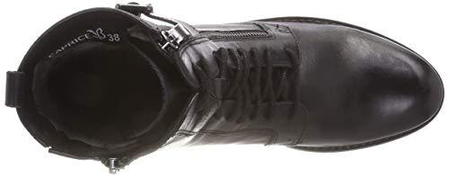 Combat Nappa Nero Waxy Donna 25100 Caprice Stivali 48 Blk q614HHU