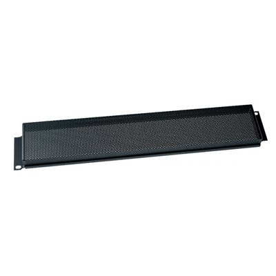 Security Cover for Rackmount, Perforated Steel Perforation Style: Fine Perforation, Cover Height: 1 3/4'' H (1U Space) by Middle Atlantic
