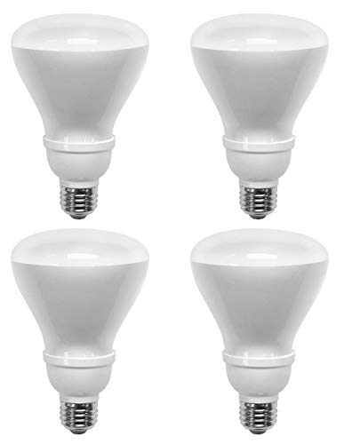 TCP 65 Watt CFL R30, 4 Pack, Soft White (2700K), Flood Light Bulbs (R30 Dimmable Compact)