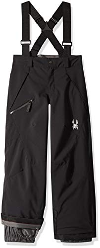 Spyder Boys' Propulsion Ski Pant, Black/Black, Size 14 (Snowboard Jacket Spyder Boys)