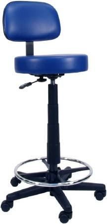 (Alimed Lab Stool Backrest Gas Lift, Fingertip Adjustment 5 2 Inch Dual Wheel Casters Blue Ridge)
