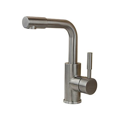 ZYT Contemporary Antique Modern Standard Spout Vessel Rain Shower Widespread with Ceramic Valve Single Handle One Hole for Stainless Steel,
