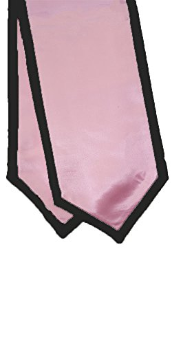 Graduation Honor Stoles/Sashes with Classic End and Trim (Pink w/Black Trim)