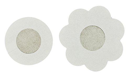 COM-FOUR® 10x Brustwarzenabdeckung 58mm Rund in Hautfarben Set (10 Stück - Rund) 20 Stück - Rund+blume QWUg62j