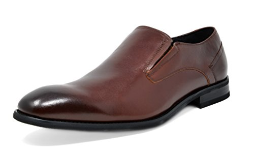 Bruno Marc Mens Washington En Cuir Véritable Robe Oxfords Chaussures 6-marron Foncé