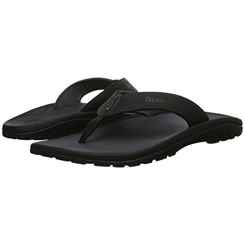 Olukai Mens Ohana Sandals With Free Microfiber Towel Black / Dark Shadow IZ3SN