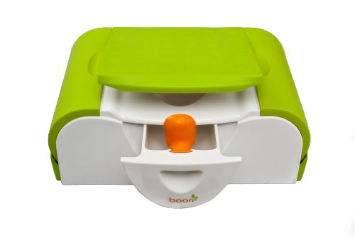 Boon Potty Bench Training Toilet with Side Storage,Green