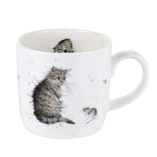 Royal Worcester Wrendale Designs Cat and Mouse (Cat) Mug