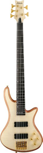 Schecter Stiletto Custom-5 Electric Bass (5 String, Natural Satin) Stiletto Custom Electric Bass