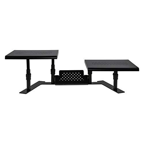 Allsop Metal Art ErgoTwin Height Adjustable Dual Monitor Stand (31883)