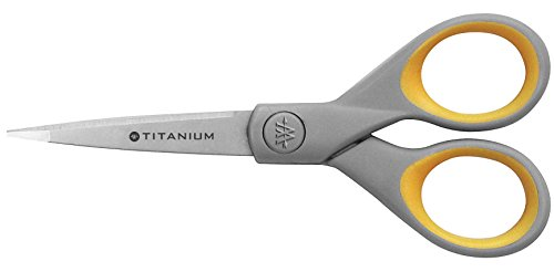 "Westcott Titanium Bonded Scissors With Soft Grip Handles, 5"" Pointed"