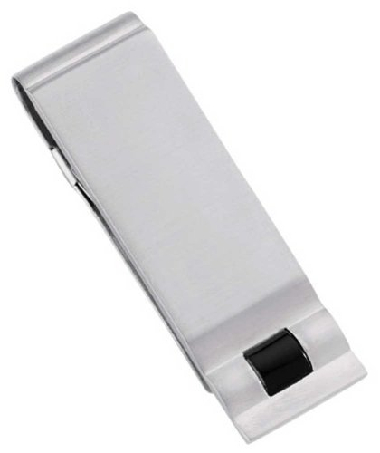 - Colibri Onyx Stainless Steel Money Clip - Free Engraving