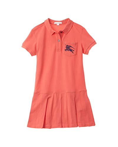 Burberry Girls Ekd Logo Polo Dress, 8Y, ()
