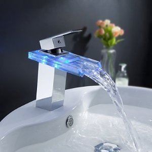 Sprinkle® - changement de couleur robinet conduit lavabo cascade salle de bains  avec vidage ( 78b4b2cd9873