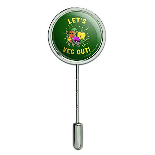 GRAPHICS & MORE Let's Veg Out Vegetables Rock Relax Funny Humor Stick Pin Stickpin Hat Brooch ()