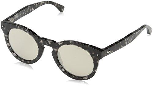 Sunglasses Fendi 214 /S 0WR7 Black Havana / 3B green - Sunglasses Havana Fendi