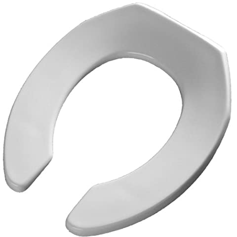 Bemis 3L2055T 000 Medic-Aid Plastic Raised Open Front Toilet Seat with 3-Inch Lift , Round, White - Bemis Round Open Front