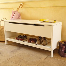 ABBEVILLE Hallway Storage Bench And Shoe Rack