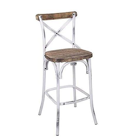 Awe Inspiring Acme Furniture 96642 Zaire Bar Chair Walnut Antique White Unemploymentrelief Wooden Chair Designs For Living Room Unemploymentrelieforg